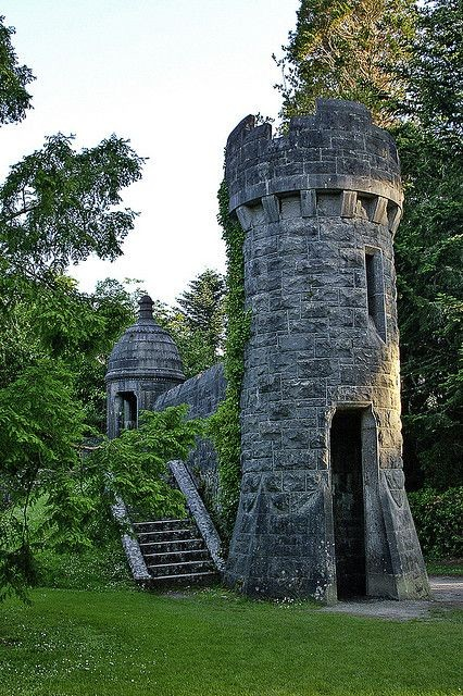 Gate Lodge of the Ashford castle in Mayo, Ireland