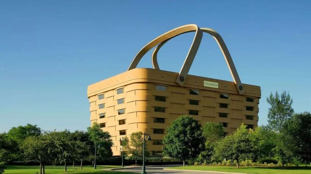 The basket-shaped Ohio building