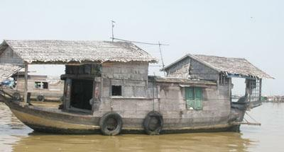 Woonboot in Cambodja