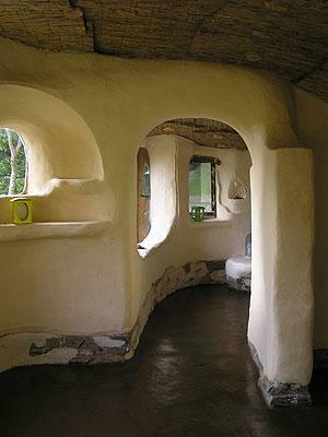 Cob cottage inside