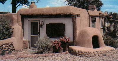 Cob house in New Mexico