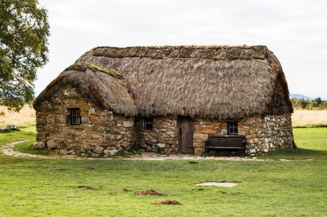 Old Scottish house on the Culloden battlefield