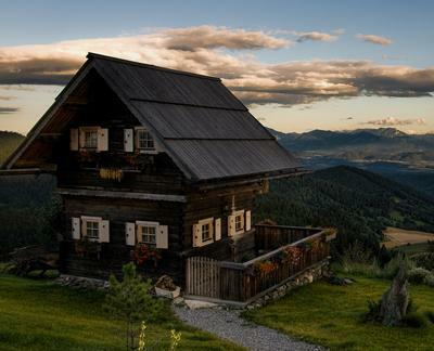 Wooden house in Austria