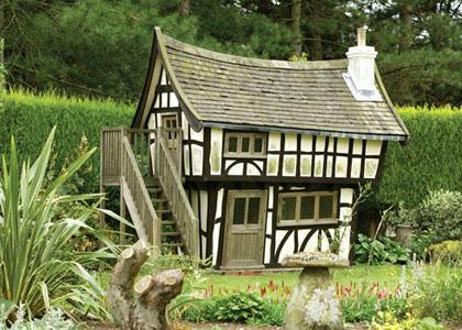 Kids playhouse in Tudor style