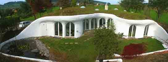 Earth house in Switzerland