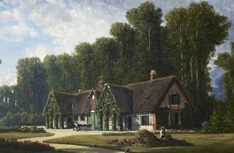 Painting of a country house