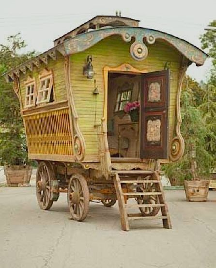 Characteristic old fashioned caravan