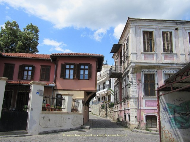 Old houses in Xanthia,  Greece.
