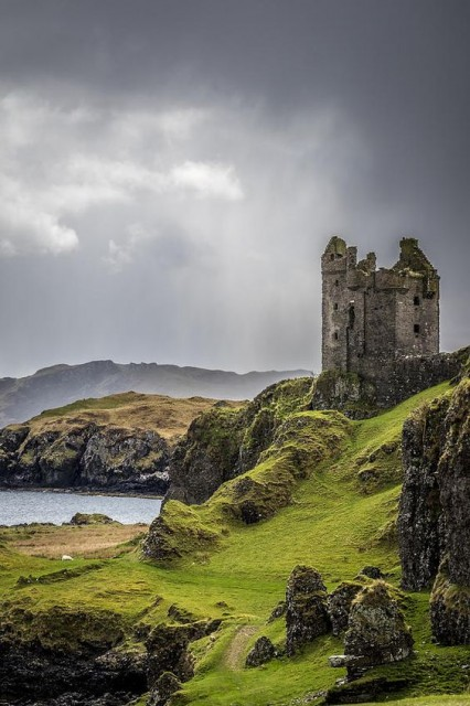 Gylen Castle at the south end of the island of Kerrera in Argyll and Bute, Scotland