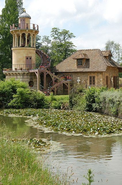 The Queen's Hamlet in the park of Château de Versailles, built for Marie Antoinette in 1783