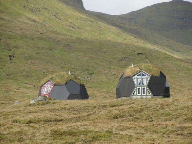 Igloo's on the Faroe Islands in Denmark,
