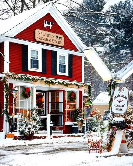 Newfields Country Store during christmas.