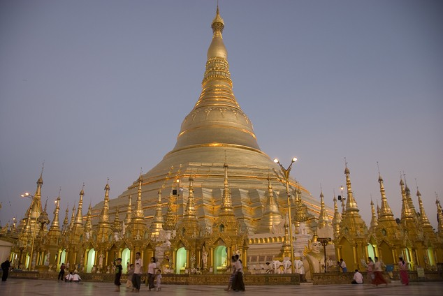 The Schwedagon Pagoda is the largest temple in Myanmar.