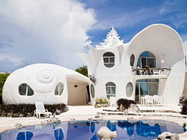 Seashell house Cancún, Mexico.