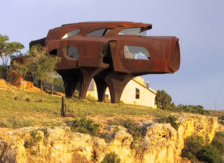 Steel house in Lubbock, Texas