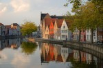 Houses along the canal in Bruges, Belgium