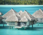 Luxurious hotel in Bora Bora