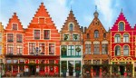 Houses with stepped gables in Brugge.