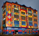 Colourful building in Bolivia