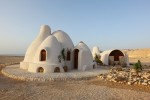 Dome house in desert