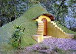 Earthbag dome with a green roof