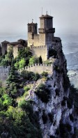 Fortress of Guaita in the city of San Marino