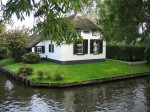 House in Giethoorn, a water village