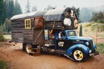 Chevy truck converted to a rolling home