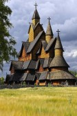 Heddal stave church in Notodden, Norway