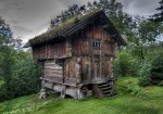 Old Norwegian log dwelling
