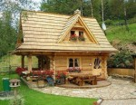 Log cabin is located in a small town called Ždiar