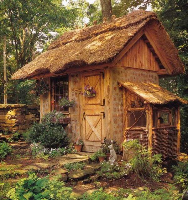 Tiny wooden cabin