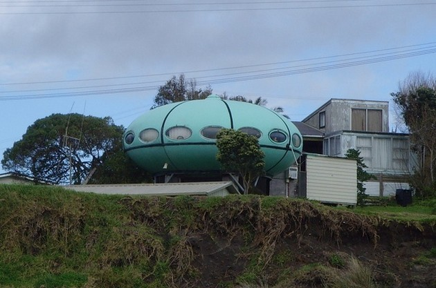 Ufo house in New Zealand