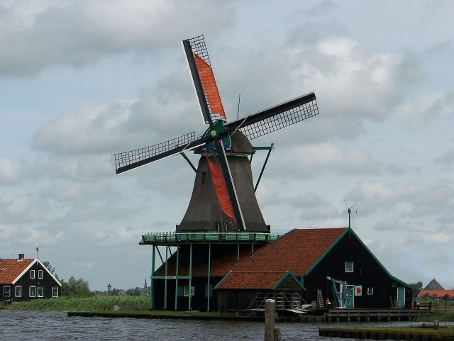 Windverfmolen in Holland