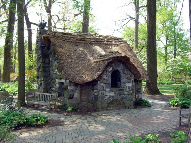 Faerie cottage in the Enchanted Woods at Winterthur