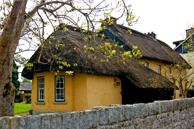 Yellow thatched cottage near to Adare and Cummeen,Ireland